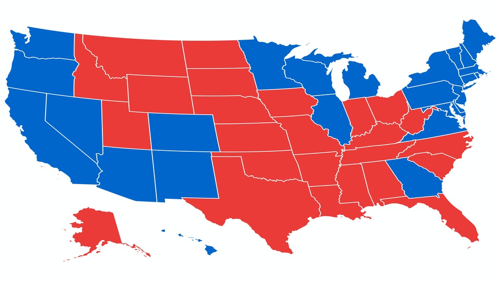 US election results map. American Presidential Election results