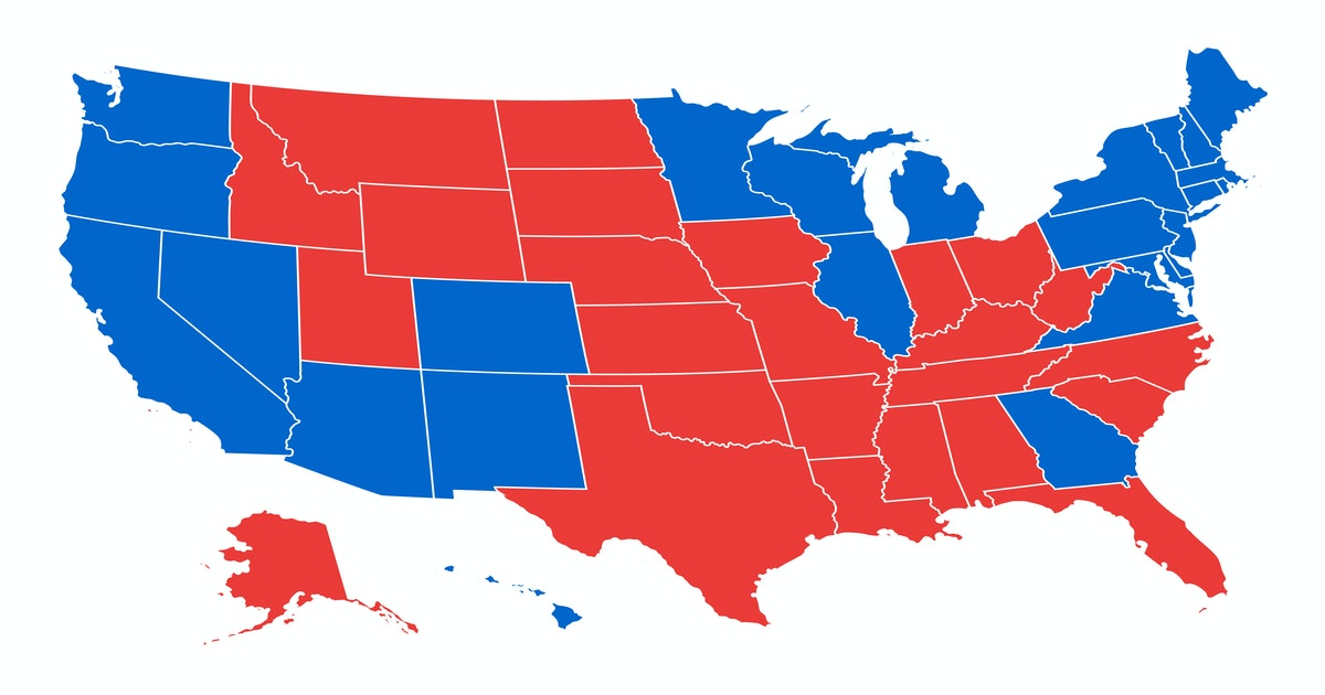 Election map: Here's how many points each state gets in the Electoral College