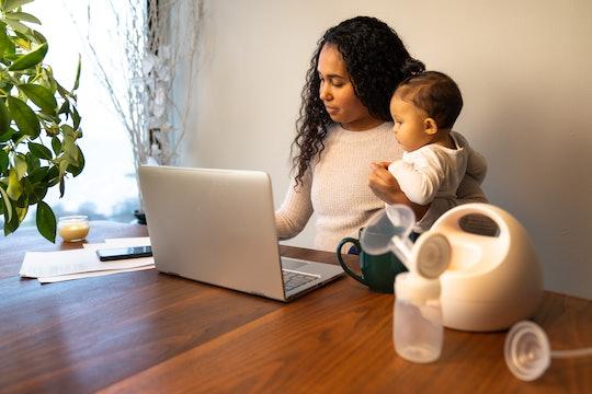 Pumping breast milk and multitasking deserves a social media post.