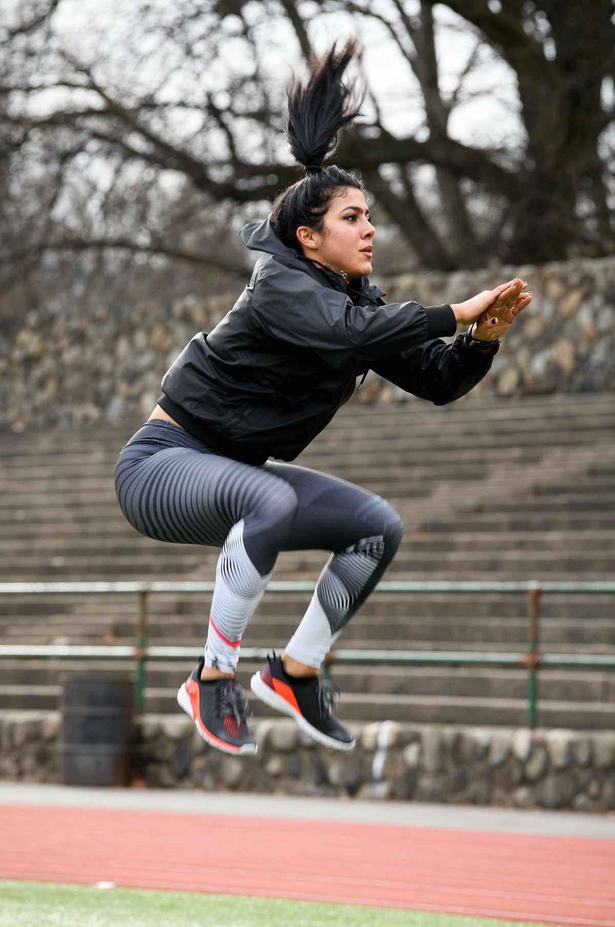 Exercises like tuck jumps and burpees are plyometric training.