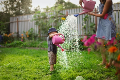 Gardening together is a great bonding activity for families.