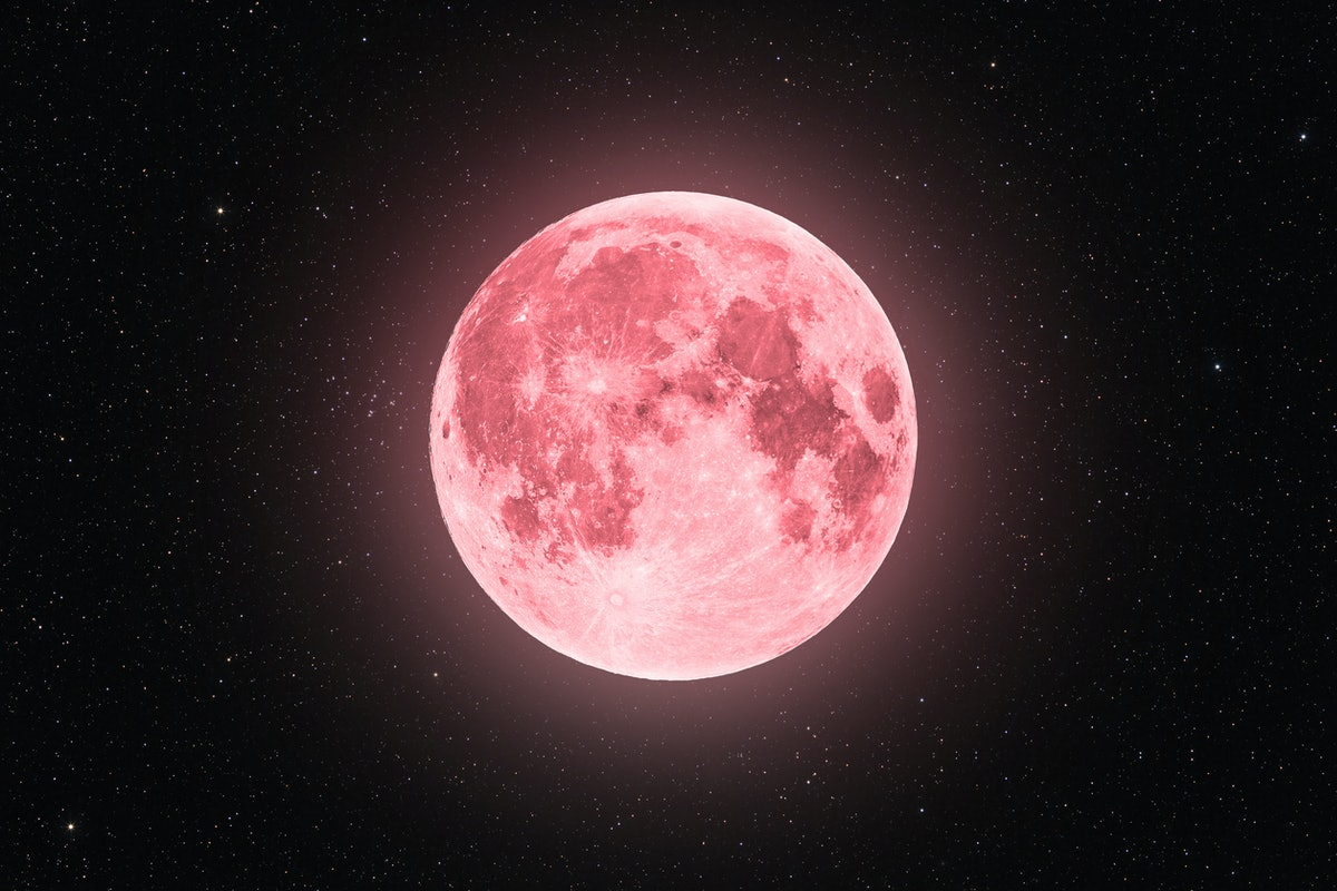 The July 2021 full moon in Aquarius, outlined in pink, affecting every zodiac sign, per their horosc...
