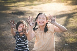 Finding independent activities for your kids to do outside is a must.