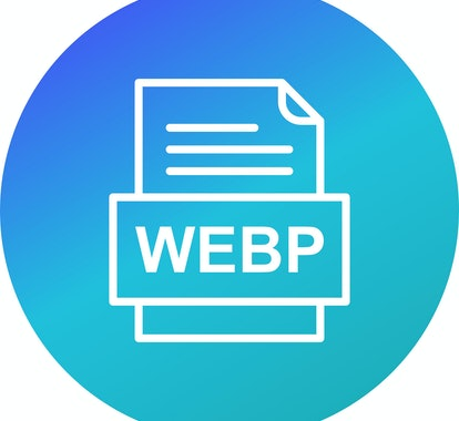 An icon of a document with a WebP logo.