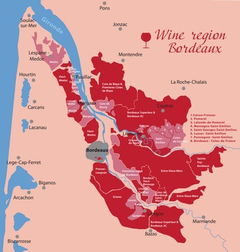 wine region of bordeaux map