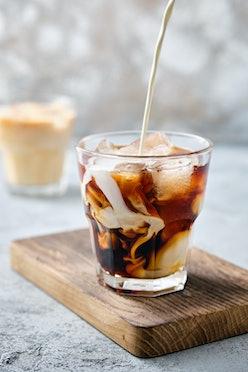 protein coffee in rocks glass profee tiktok