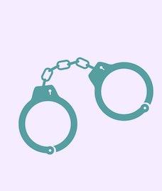 Vector handcuffs.  Handcuffs icon.  Police icon.
