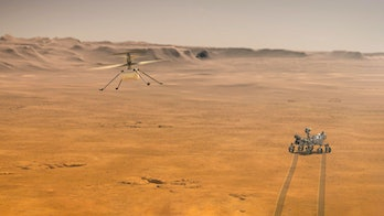 Perseverance Rover  and Ingenuity Mars Helicopter Scout.Elements of this image furnished by NASA 3D illustration.