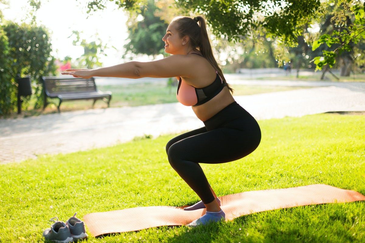 Squats work all your major running muscles to keep you in jogging form.
