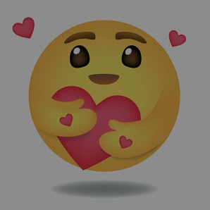 Emoji, Emoticon vector, Round Yellow cartoon hugging heart love design for use in chat, email, massage and comment.