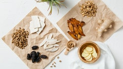 A collection of natural raw herbal ingredients as part of an herbal tonic formula used in Traditiona...