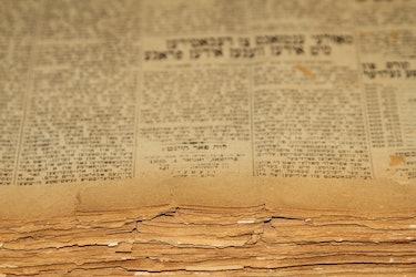 Stacks of Yiddish Books