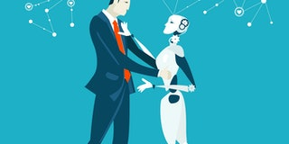 Future reality, relationship between human and robot. Ideal partner, companion, fake relationship.
