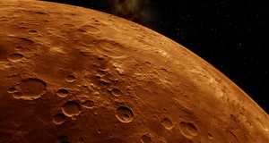 planet Mars, red planet Mars, Mars in the solar system 3d render