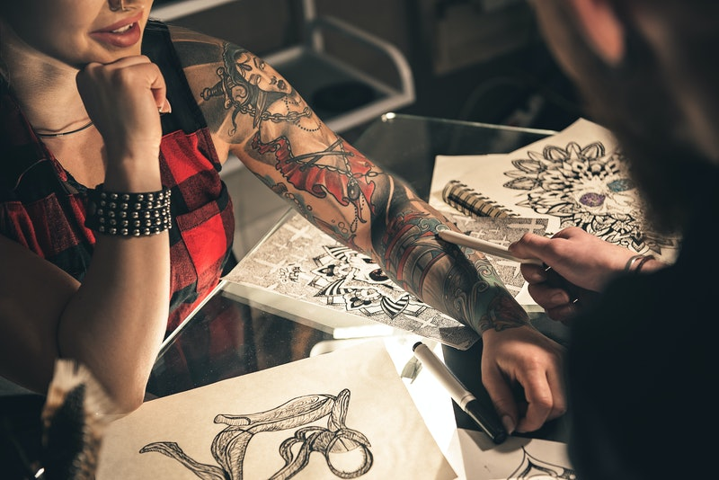 During the process of planning your tattoo, it's important to think about aftercare. Make sure to know how long you need to wait before showering, what products to apply, and other important dos and don'ts.