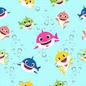 Baby Shark Seamless Pattern in Ocean