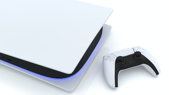Video game console and new generation Joystick video game controller, futuristic wireless technology...