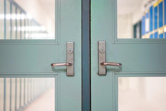 closed school doors