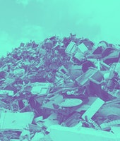 Electronic waste and garbage for recycling