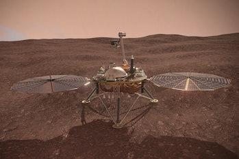 Mars probe - NASA's InSight lander - 3D Illustration