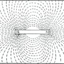 A typical representation of the north and south poles of a magnet, along with the magnetic lines of ...
