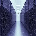Server Racks In a Modern Data Center. Computer Racks All Around. Technology Related 3D Illustration ...