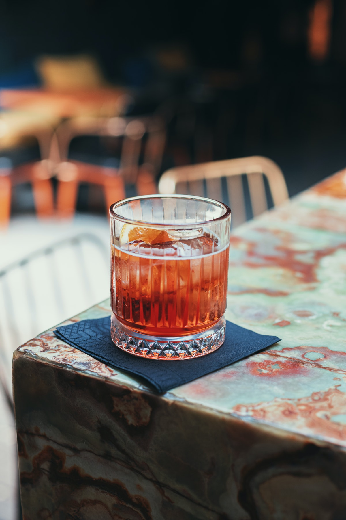 A negroni is a great aperitif cocktail to drink before dinner