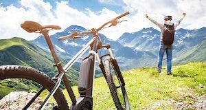 Mountain E Bike In Austria. Ebike Bicycle
