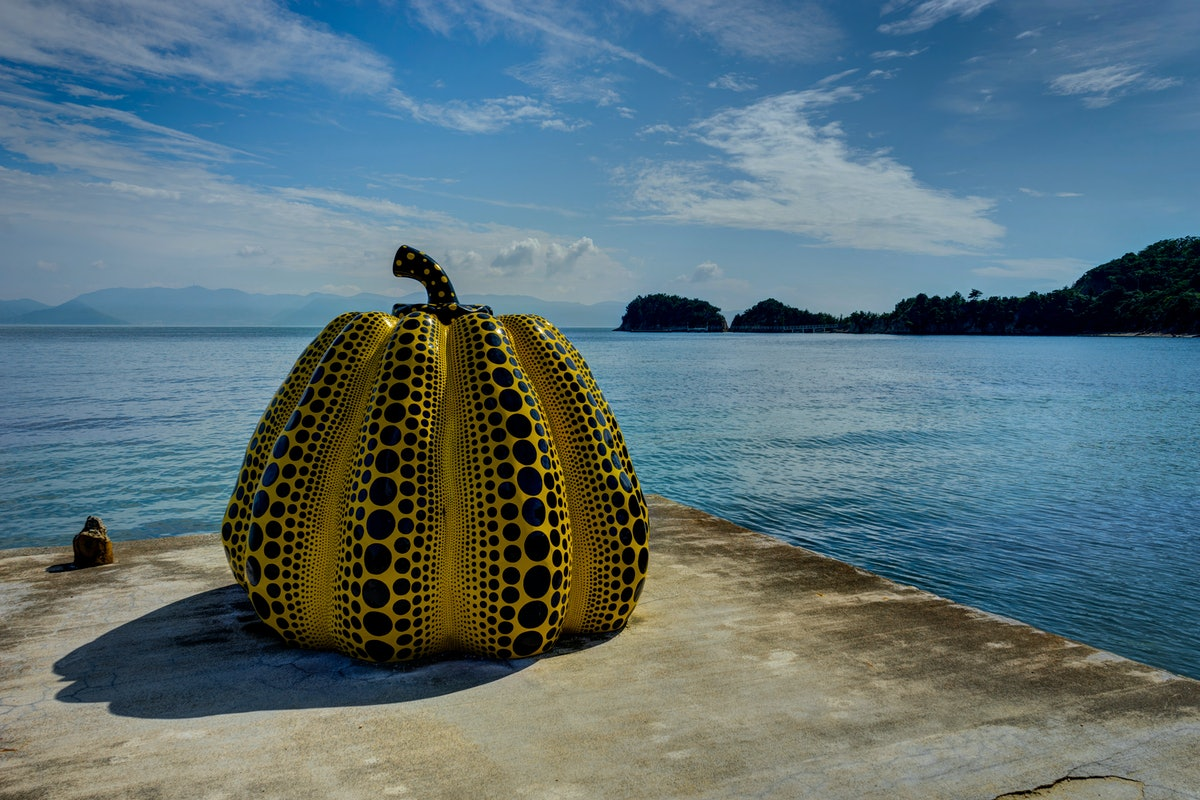 Naoshima Island Art Piece Museum Japan Yellow Pumpkin