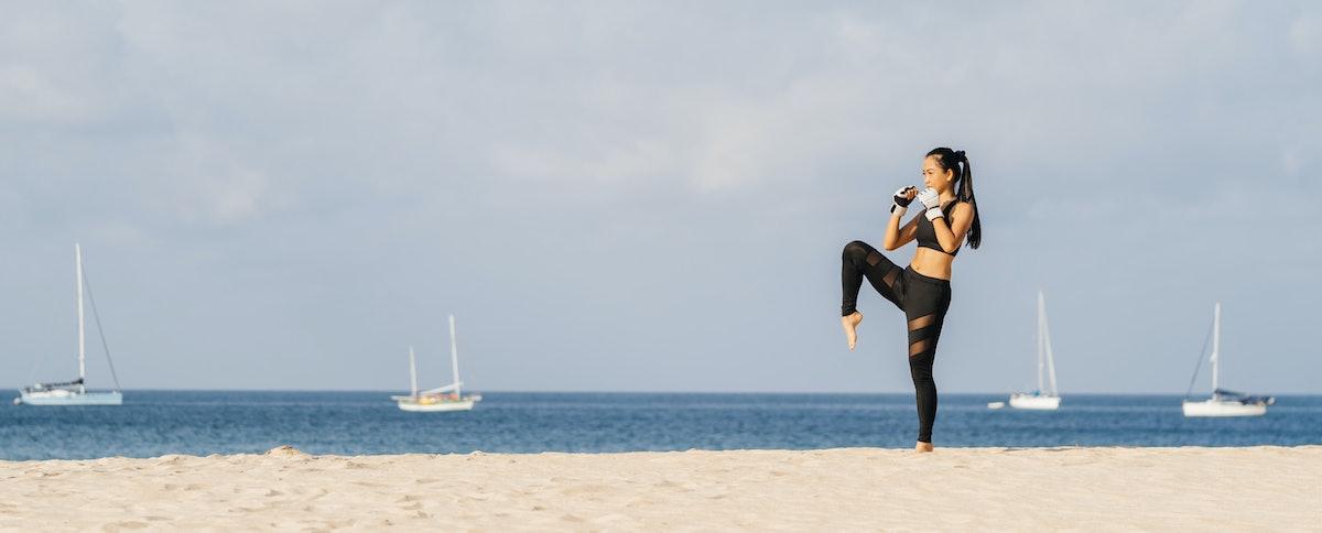 beach workouts boxing