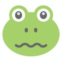 Frog's confounded expressions via emoticon