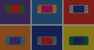 Game controller design template icon. Nintendo Switch. Gamepad