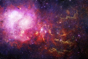Endless universe with stars and galaxies in outer space. Cosmos art. Elements of this image furnishe...