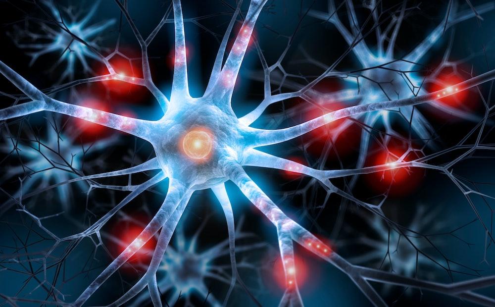 Active nerve cell - 3D illustration