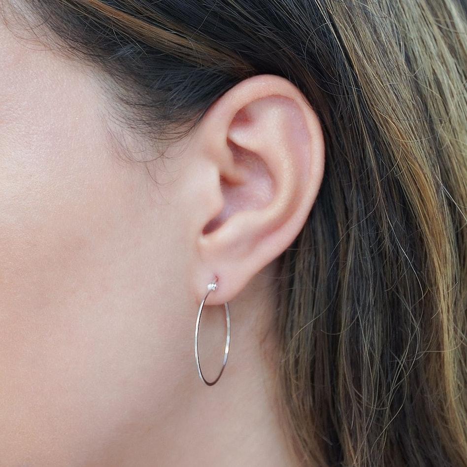 Dreamy Hoop Silver Earrings: additional image