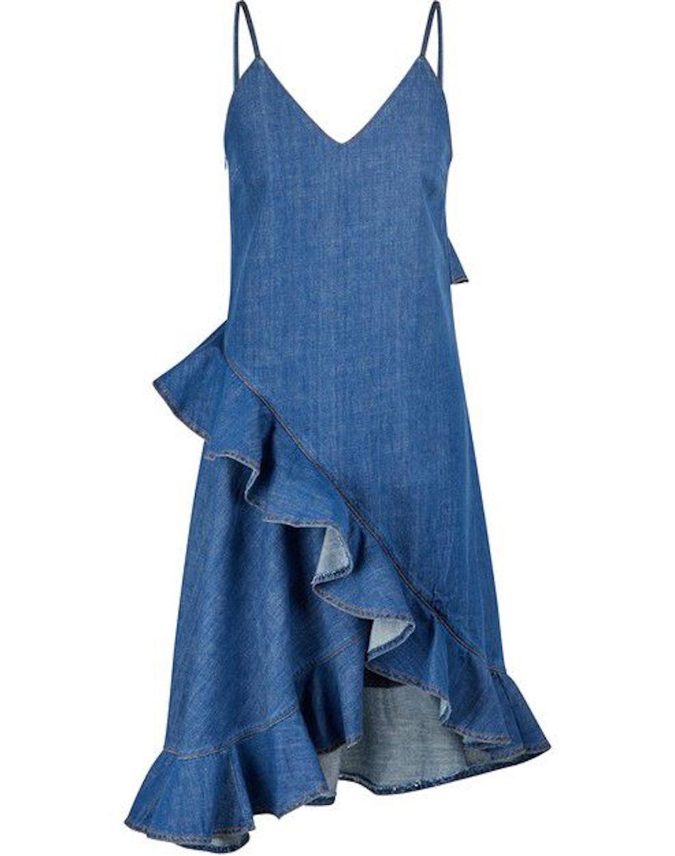 Ruffled denim dress: image 1