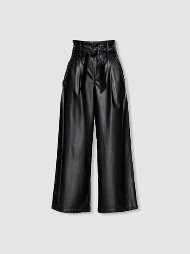 Joan Vegan Leather Belted Pants: image 1