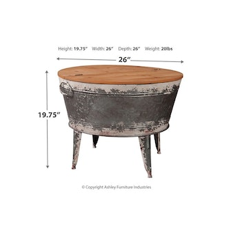 Shellmond Coffee Table With Storage - Two-Tone: image 1