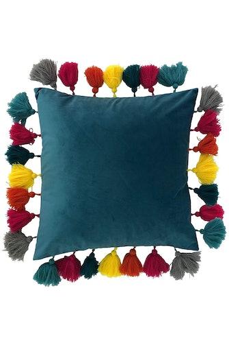 Riva Home Ceylon Velvet Cushion Cover (Ocean Blue) (One Size): image 1