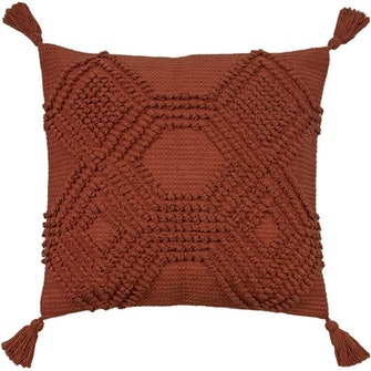 Furn Halmo Throw Pillow Cover (Brick Red) (One Size): image 1