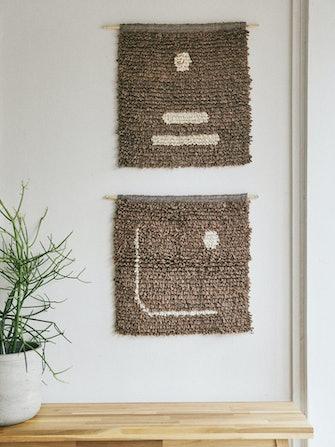 Puntos Wall Hangings Cinder - Set of Two: image 1