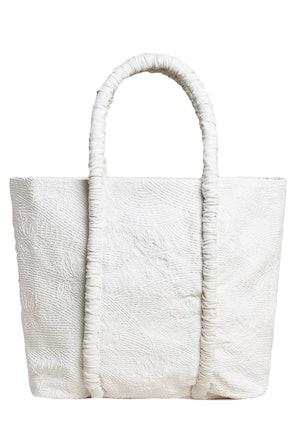 Asha Tote in White: image 1