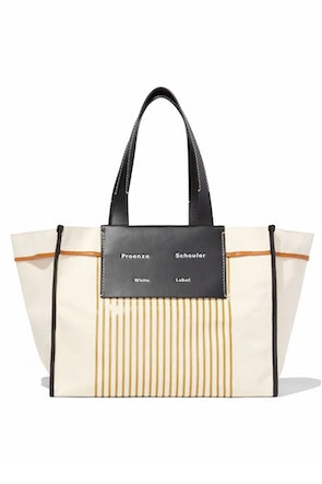 XL Morris Stripe Canvas Tote in Natural: image 1