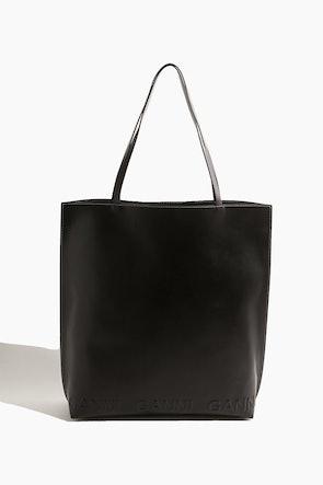 Banner Tote Bag in Black: image 1