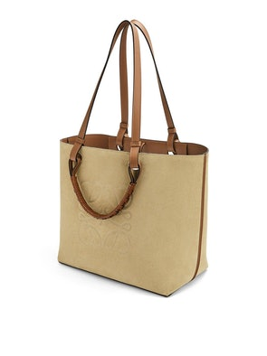 Anagram Top Handle Suede Leather Bag: image 1