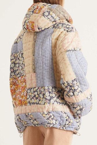 Sydney Print Long Sleeve Puffer Jacket in Multi: image 1
