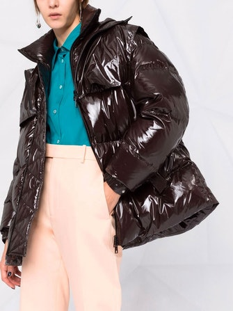 Shiny Quilted Bomber: image 1