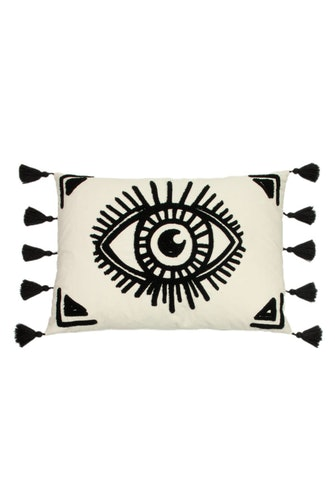 Furn Ashram Eye Throw Pillow Cover (White/Black) (One Size): image 1