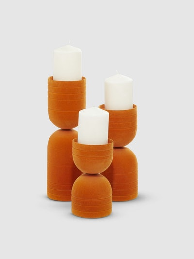 Halved Capsule Candle Holders, Set Of 3: image 1