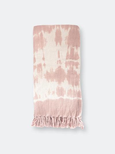 Pink Tie Dye Throw Blanket: image 1